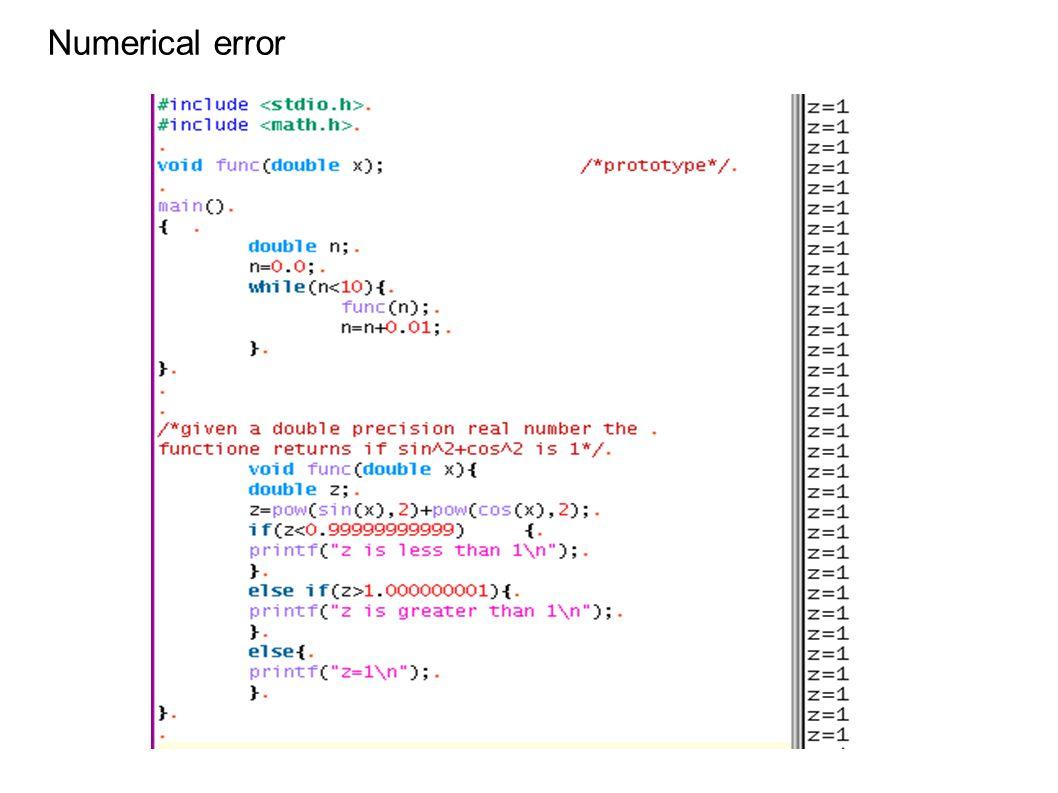 Numerical error