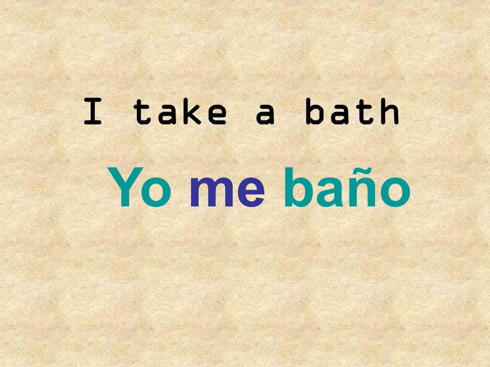 They wash their hair Ellos se lavan el pelo