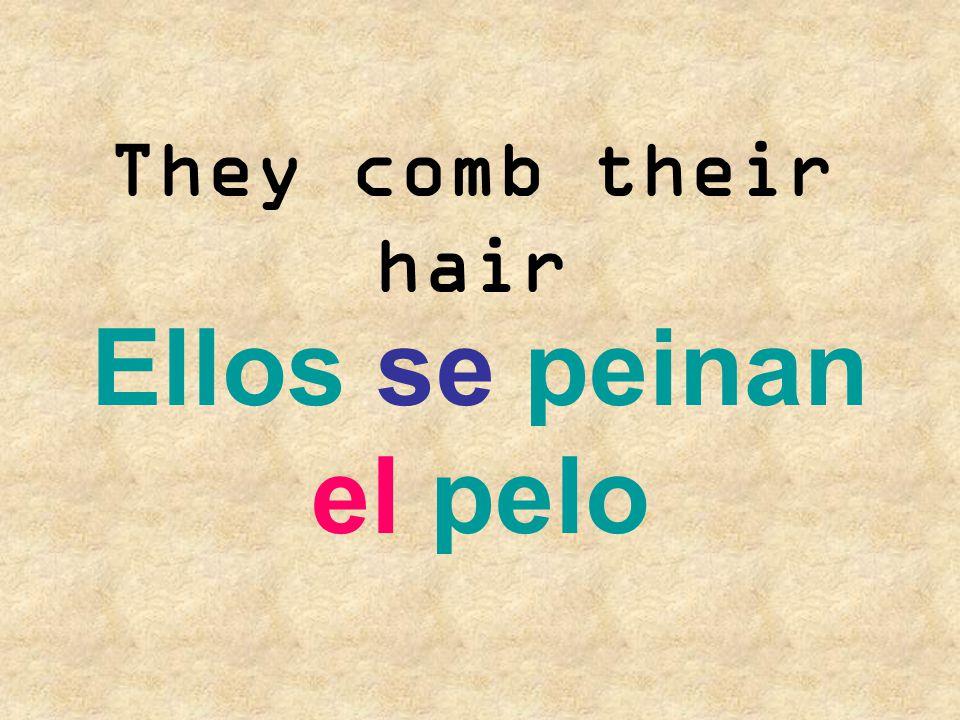 We fix our hair Nosotros nos arreglamos el pelo