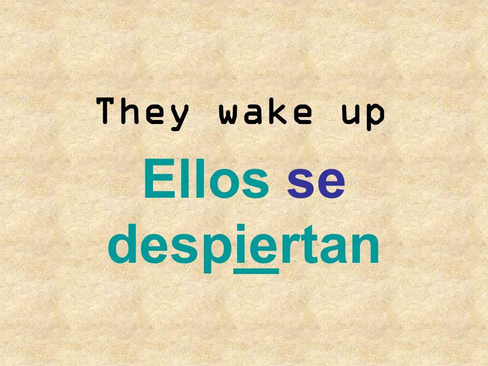 They go to bed Ellos se acuestan