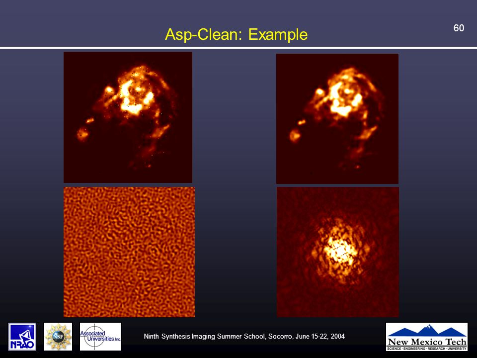 Ninth Synthesis Imaging Summer School, Socorro, June 15-22, 2004 60 Asp-Clean: Example
