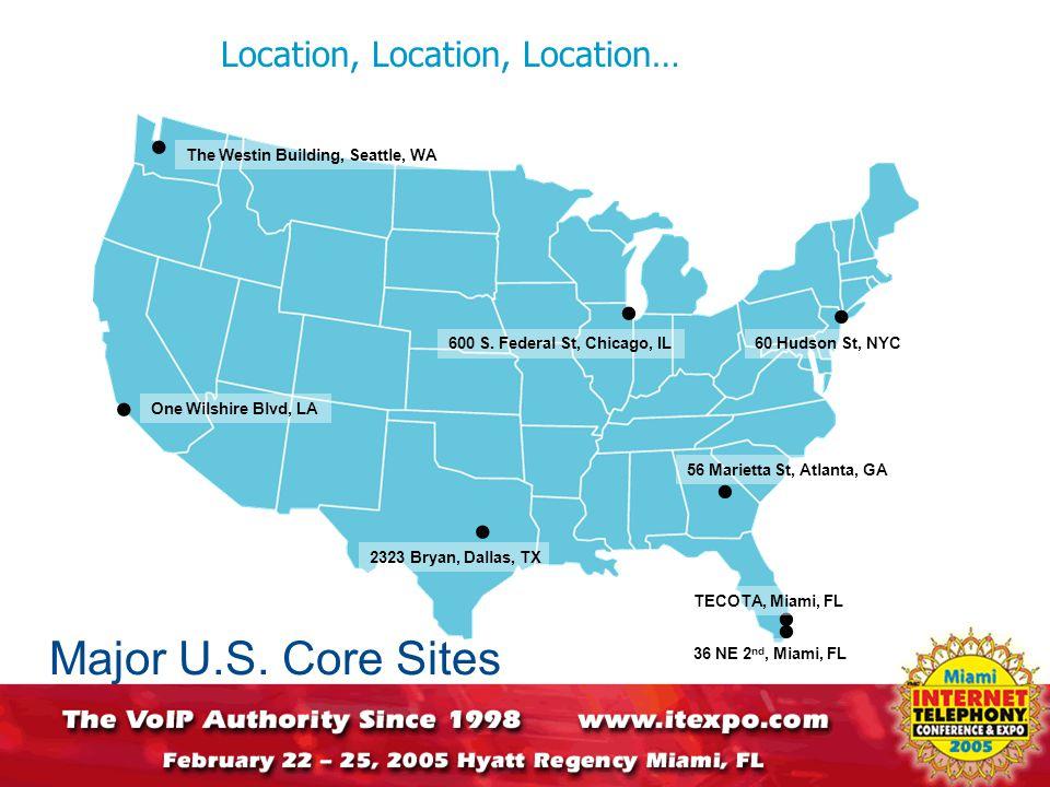 Location, Location, Location… Major U.S.