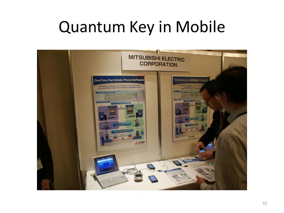 Quantum Key in Mobile 50