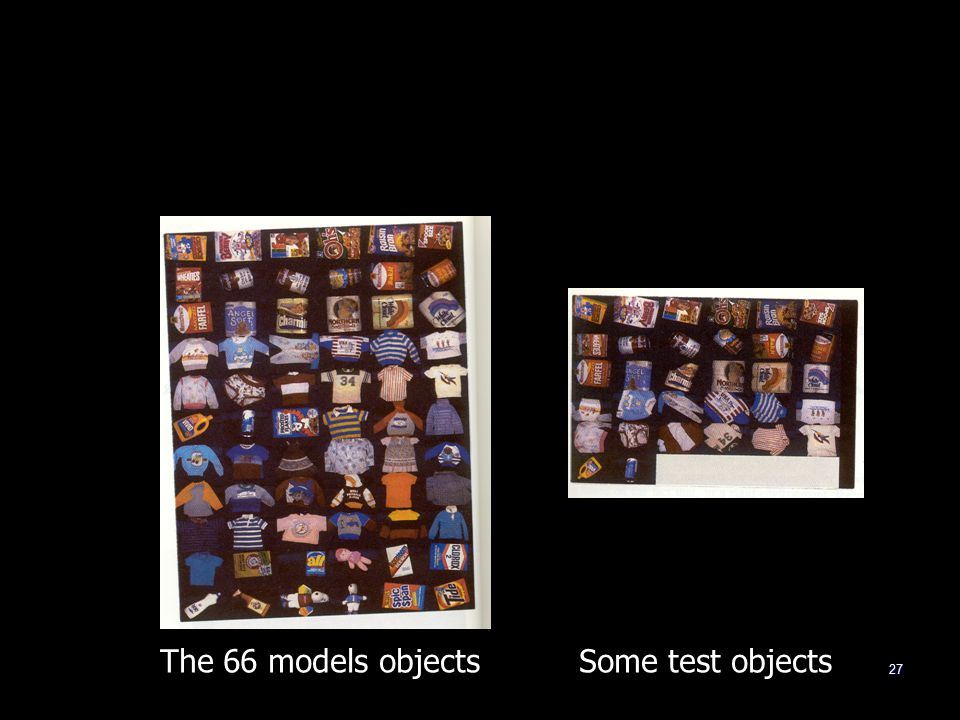 27 The 66 models objects Some test objects