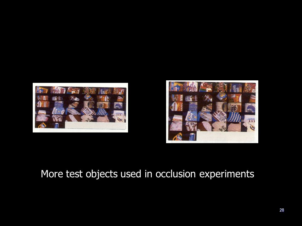 28 More test objects used in occlusion experiments