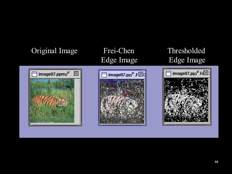 44 Original Image Frei-Chen Thresholded Edge Image Edge Image