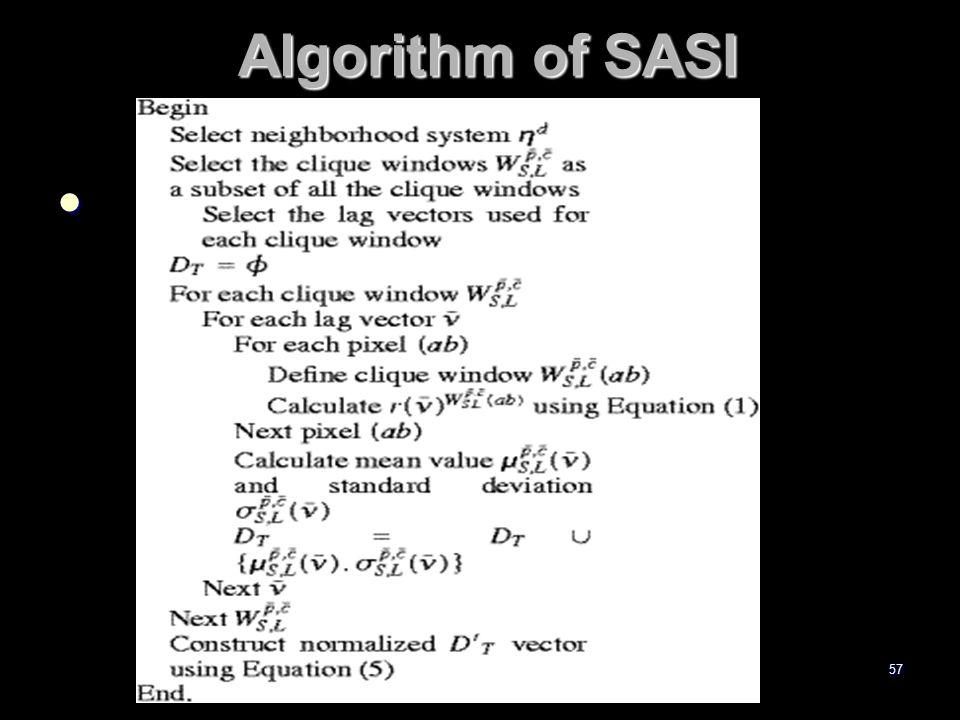 Algorithm of SASI Algorithm of SASI 57
