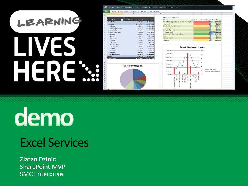 Excel Services Zlatan Dzinic SharePoint MVP SMC Enterprise