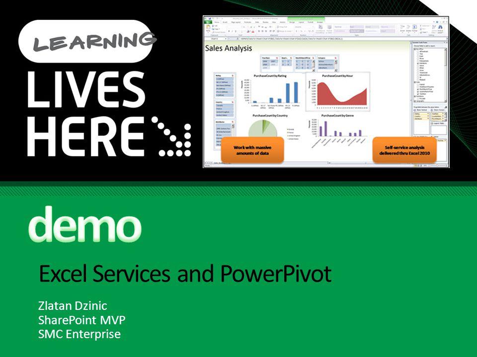 Excel Services and PowerPivot Zlatan Dzinic SharePoint MVP SMC Enterprise