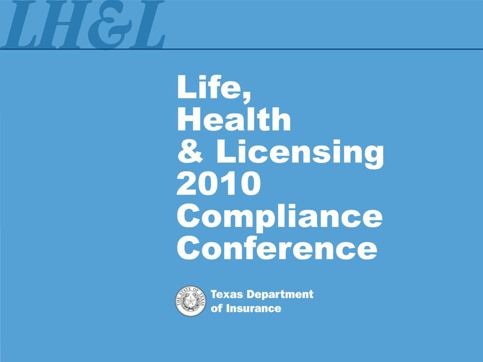 Insurance Corporation and Licensing Activities/Transactions