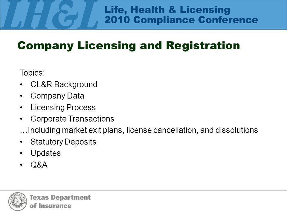 Corporate Transactions/Market Exit Plans