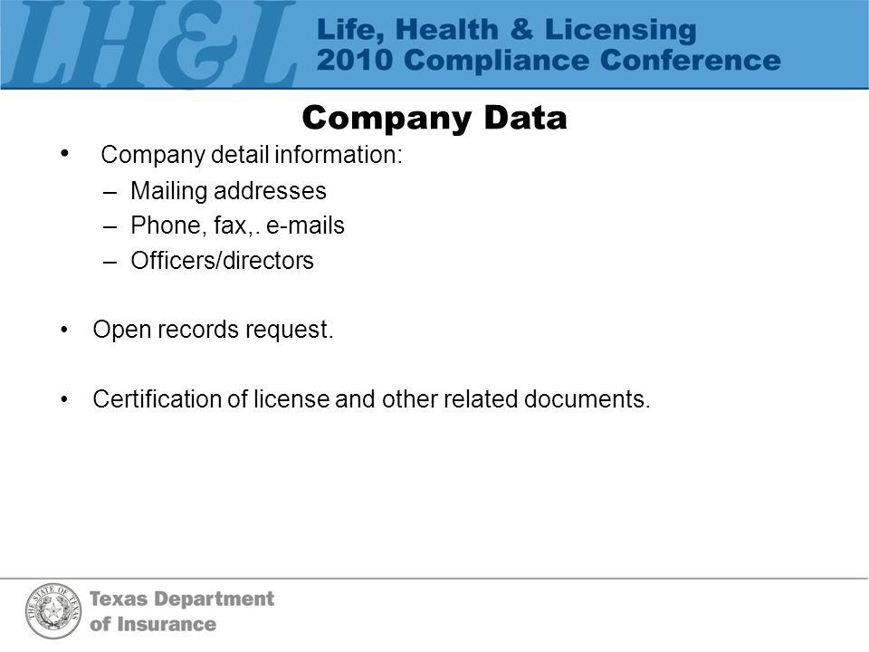 Corporate Transactions UCAA Corporate Amendments See http://www.naic.org/industry_ucaa.htm