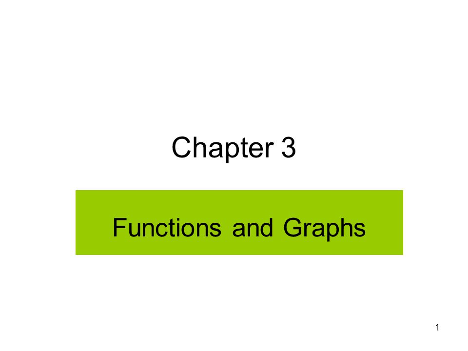 2 Section 3.1 Introduction to Functions