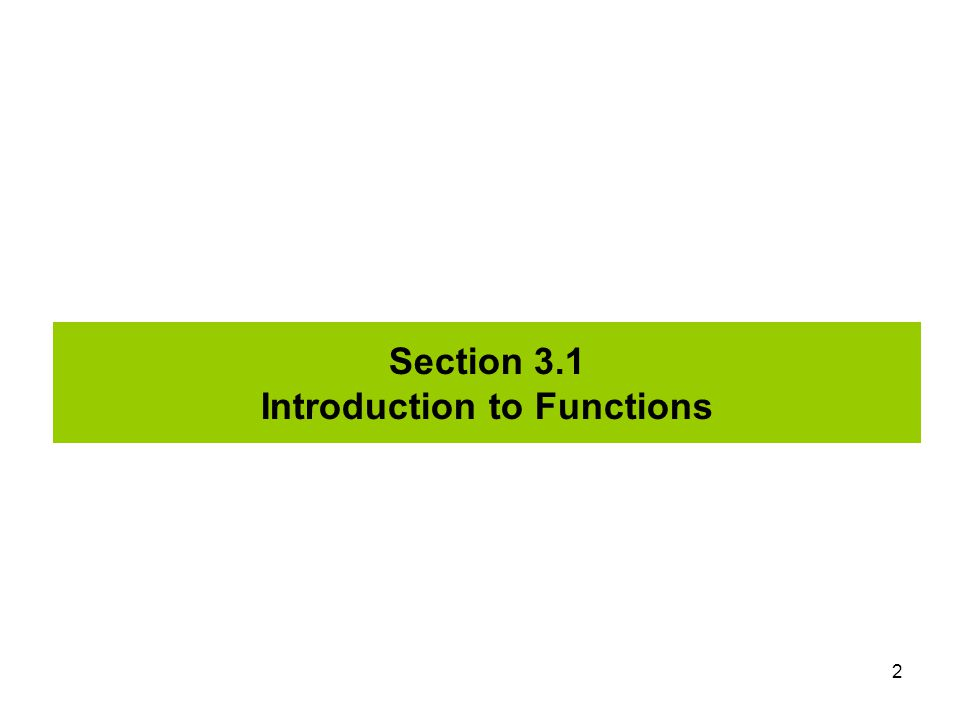 13 Section 3.2 More about Functions