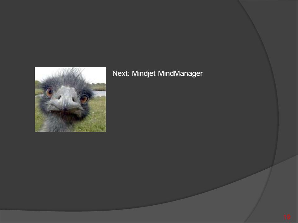 19 Next: Mindjet MindManager