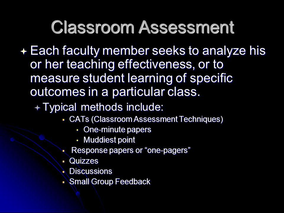 Reference Seybert, J.( 2004). How to initiate an assessment program.