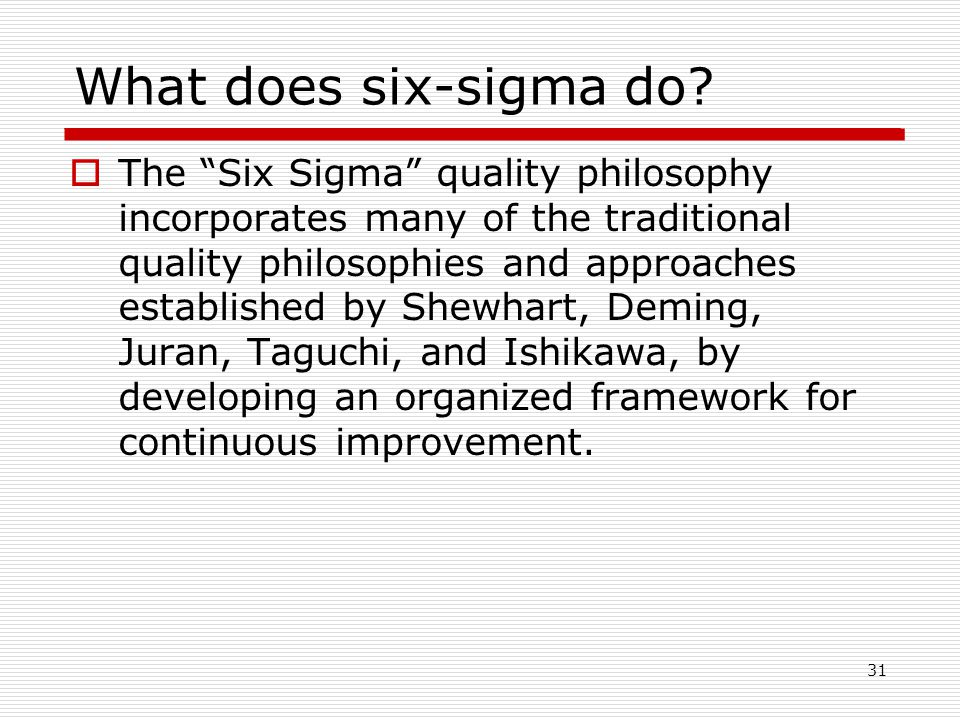 What does six-sigma do.