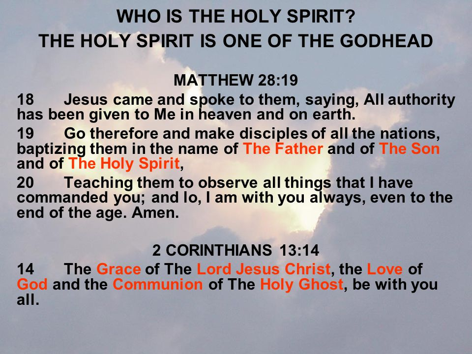 WHAT CAN THE HOLY SPIRIT DO.