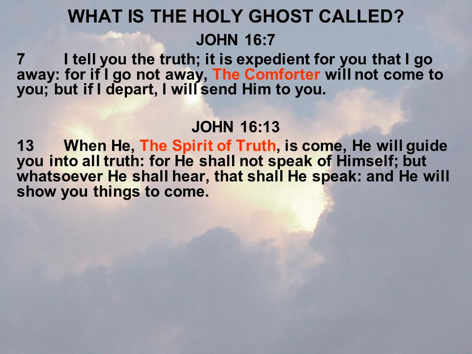 WHAT DOES THE HOLY SPIRIT DO.