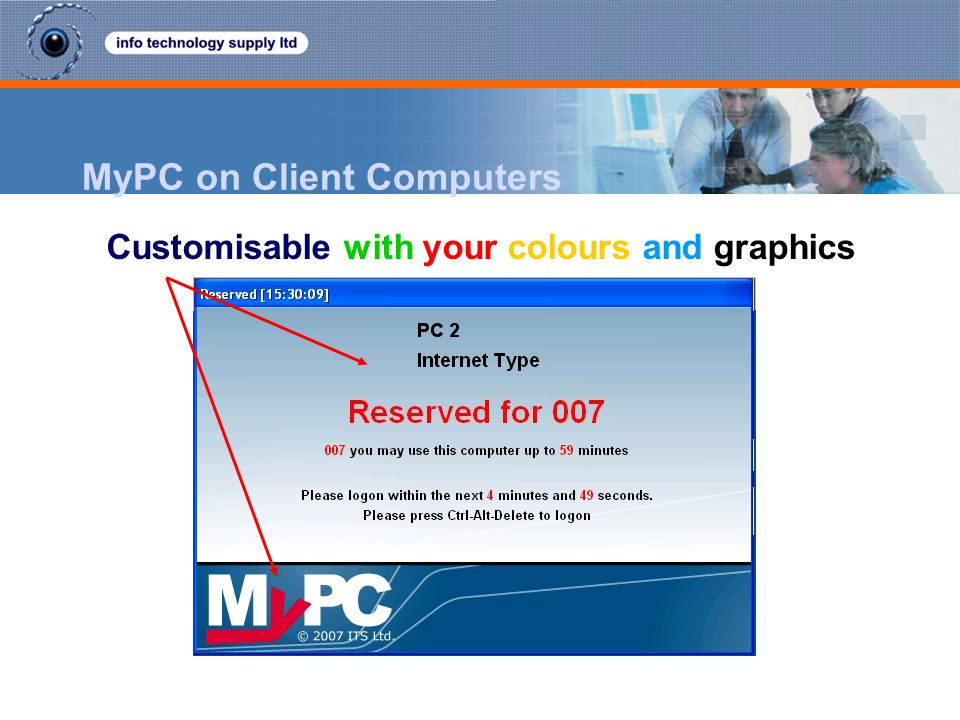 MyPC on Client Computers Customisable with your colours and graphics