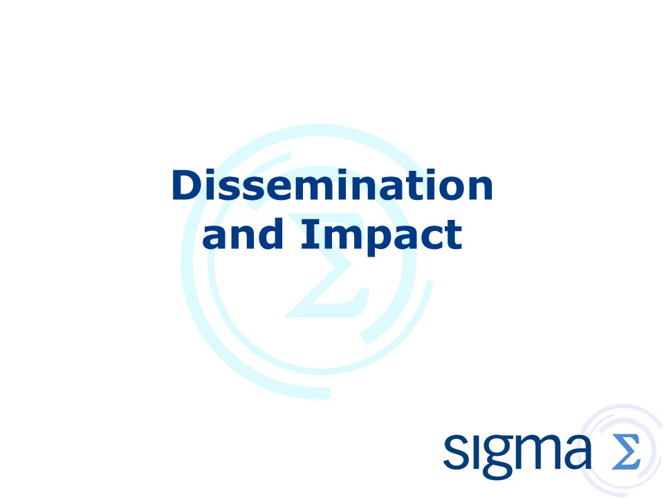 Dissemination and Impact