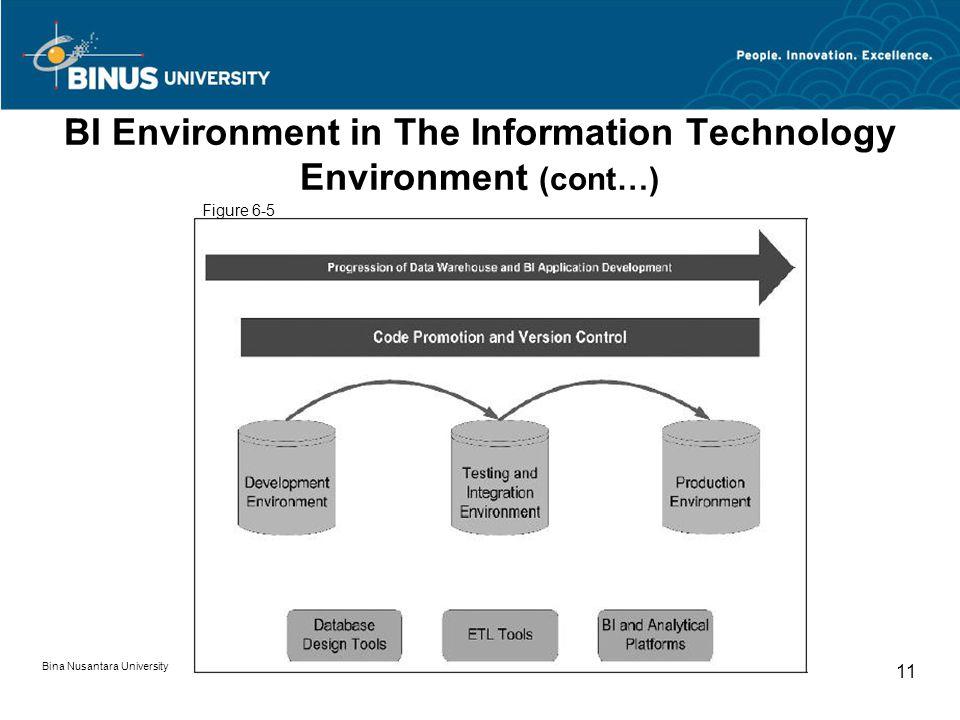 Bina Nusantara University 11 BI Environment in The Information Technology Environment (cont…) Figure 6-5
