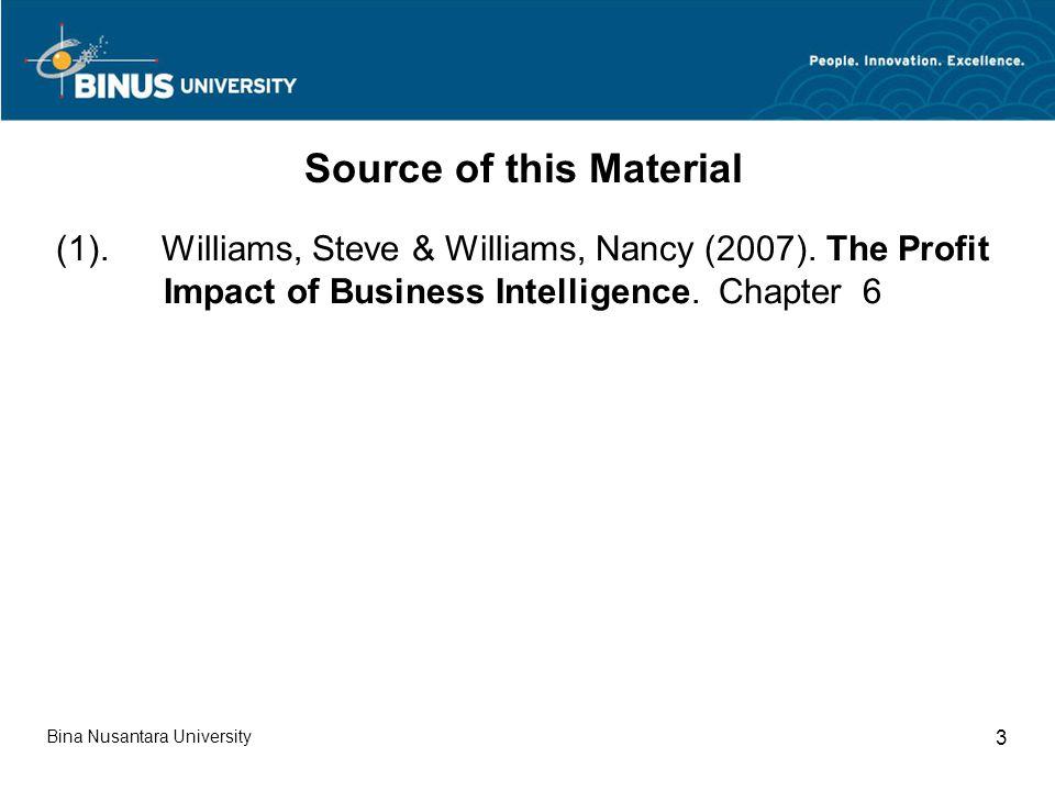 Bina Nusantara University 3 (1). Williams, Steve & Williams, Nancy (2007).