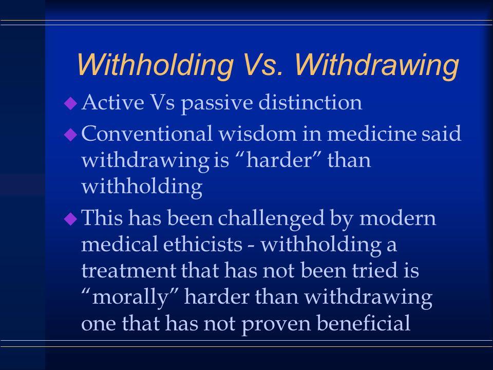Withholding Vs.