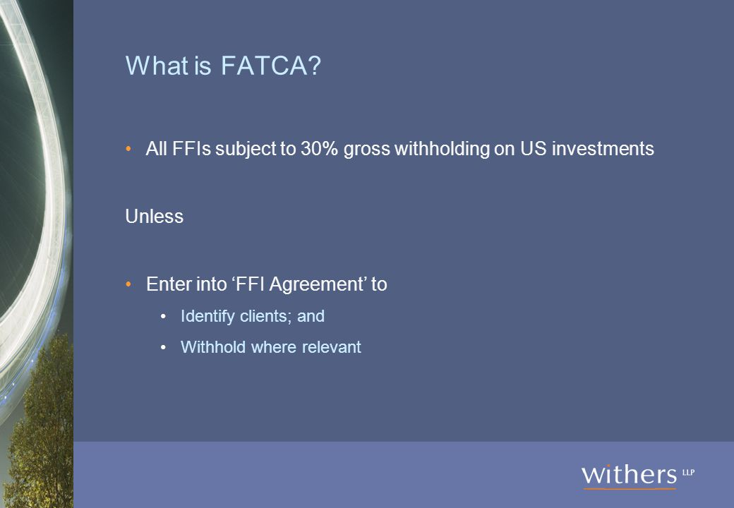 What is FATCA.