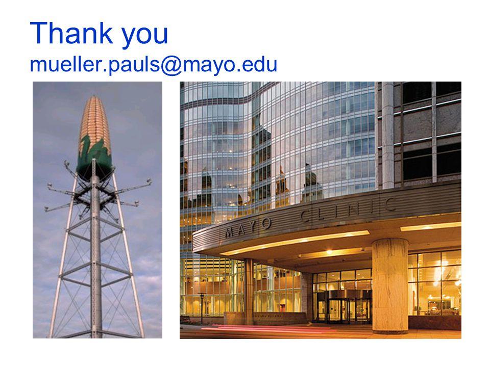 Thank you mueller.pauls@mayo.edu
