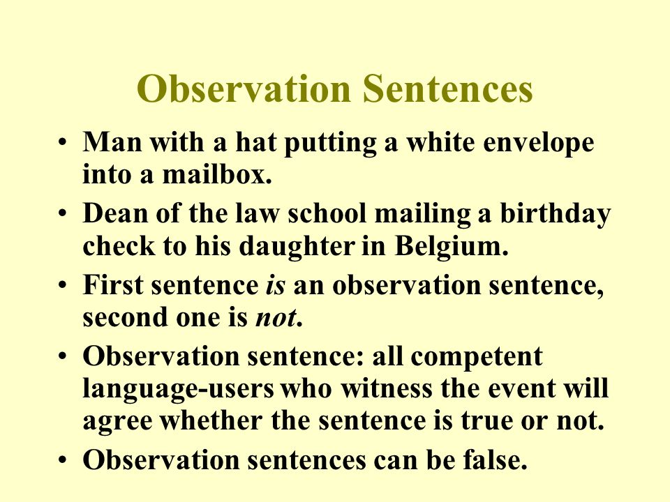 Observation Sentences Man with a hat putting a white envelope into a mailbox.