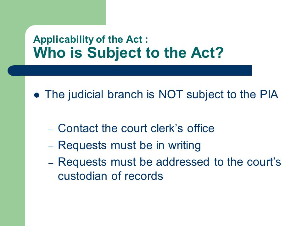 Procedures: What is a Public Information Act Request.