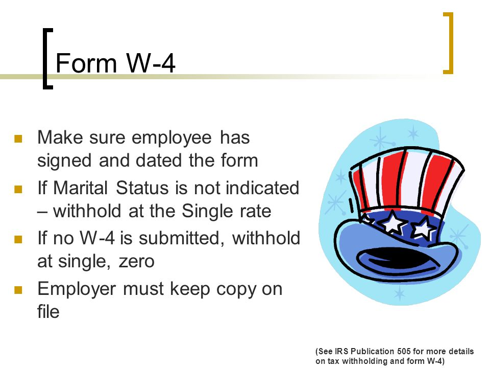 Form W-4 Cont.