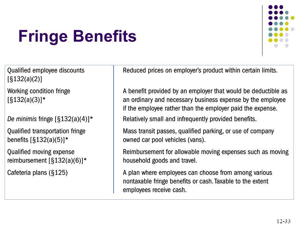 12-33 Fringe Benefits