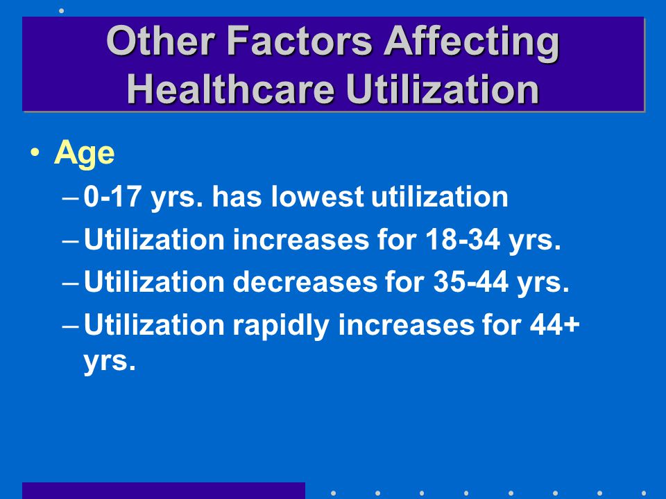 Other Factors Affecting Healthcare Utilization Age –0-17 yrs.