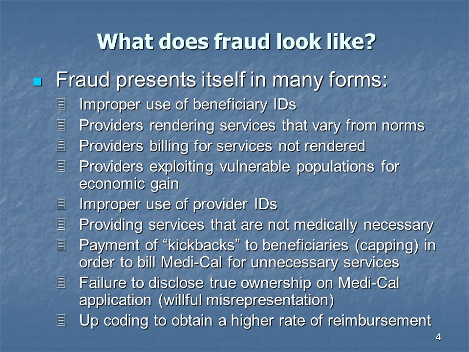 5 Research confirms that fraud costs the Program a great deal.