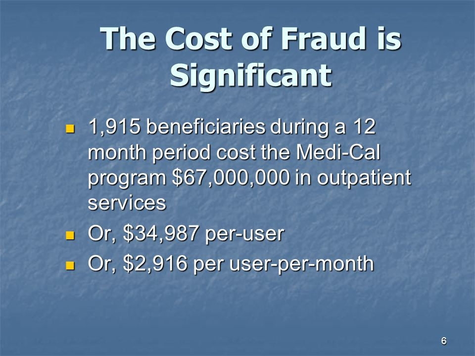 17 The 2007 MPES is a review of a sample of claims that were paid between April 1, 2007 and June 30, 2007 to determine if the documentation of service supports the claims submitted for Medi- Cal reimbursement.