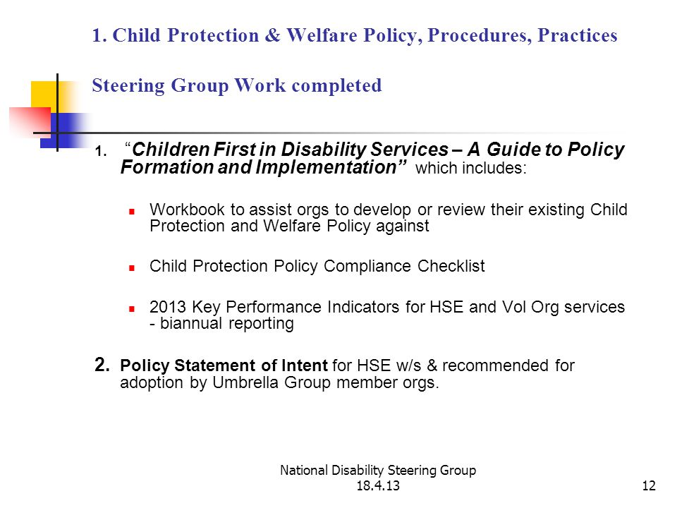National Disability Steering Group 18.4.1312 1.