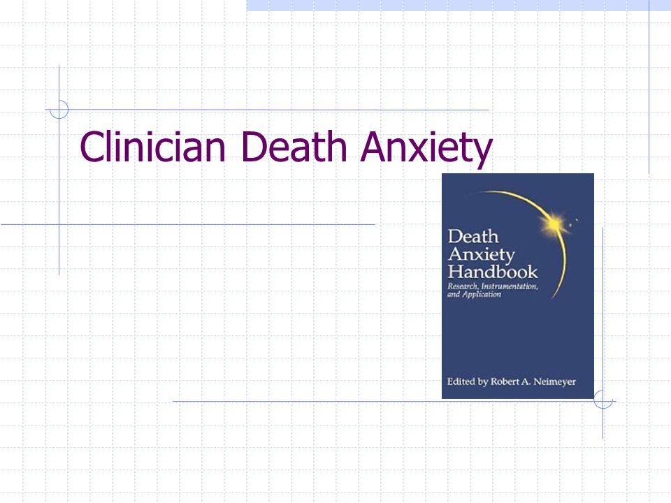 Clinician Death Anxiety