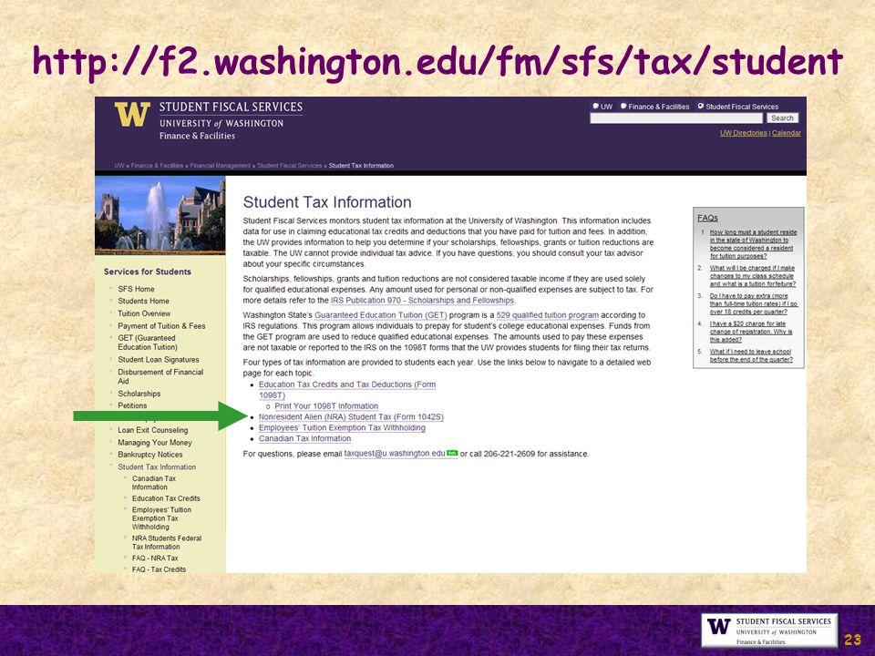 http://f2.washington.edu/fm/sfs/tax/student 23