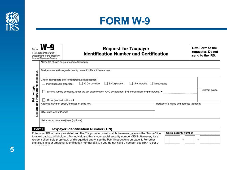 5 FORM W-9