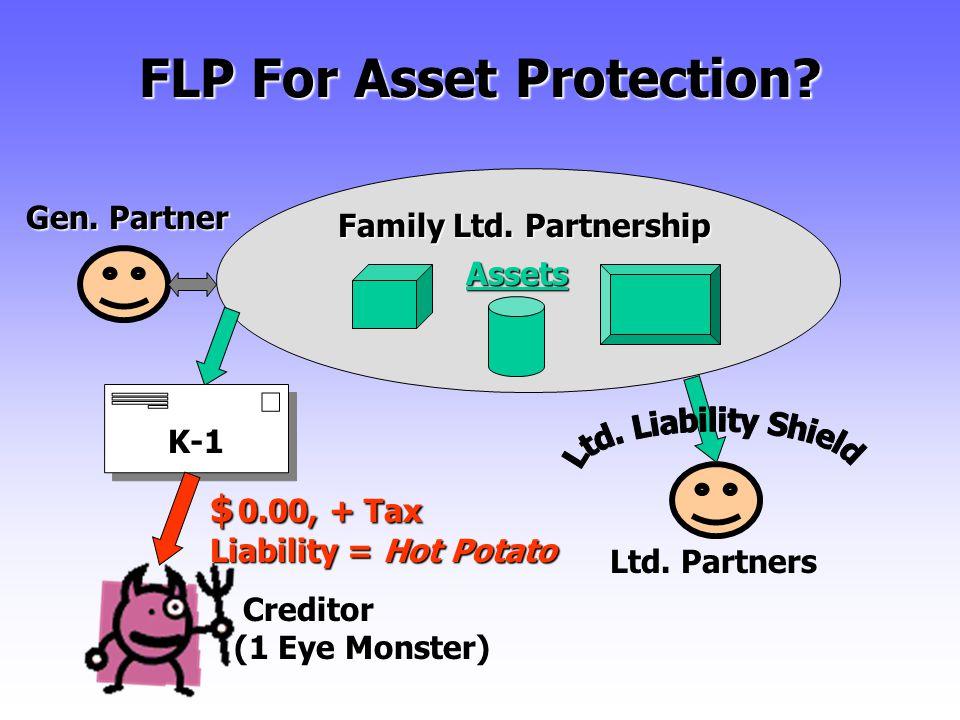 FLP For Asset Protection. Assets Ltd. Partners Family Ltd.