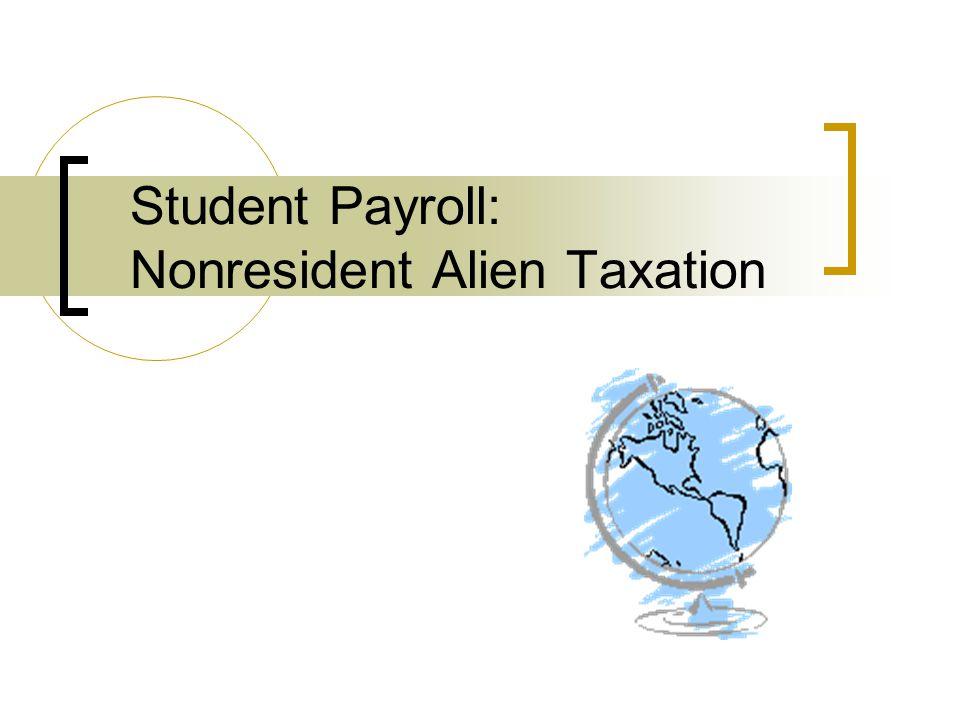 Tax Residency Under U.S.tax laws, all non-U.S.