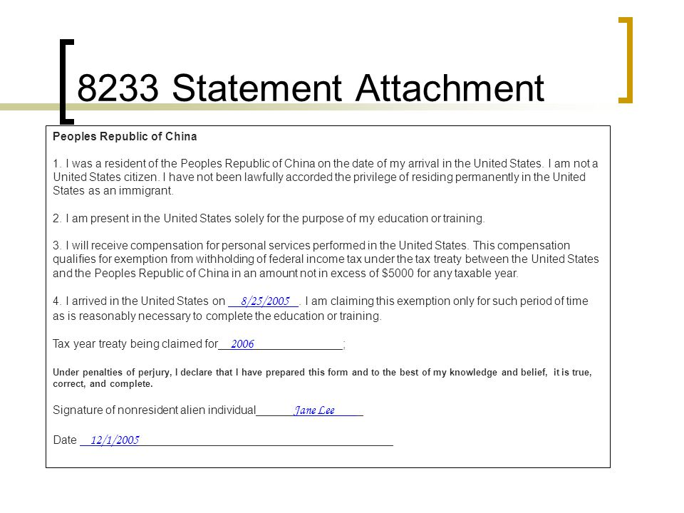 8233 Statement Attachment Peoples Republic of China 1.