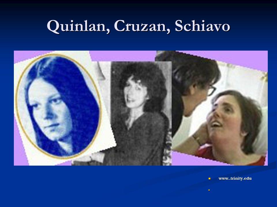 Quinlan, Cruzan, Schiavo www..trinity.edu www..trinity.edu