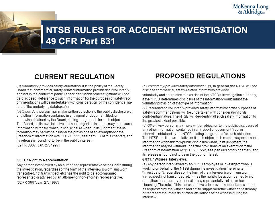 CURRENT REGULATION (3) Voluntarily-provided safety informa­tion.