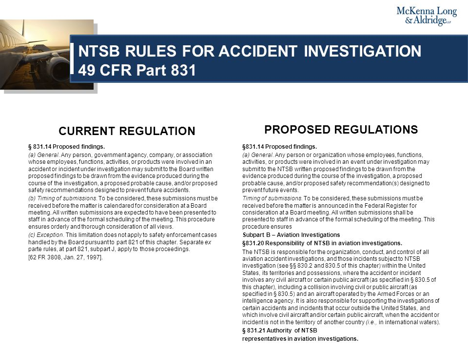 CURRENT REGULATION § 831.14 Proposed findings. (a) General.