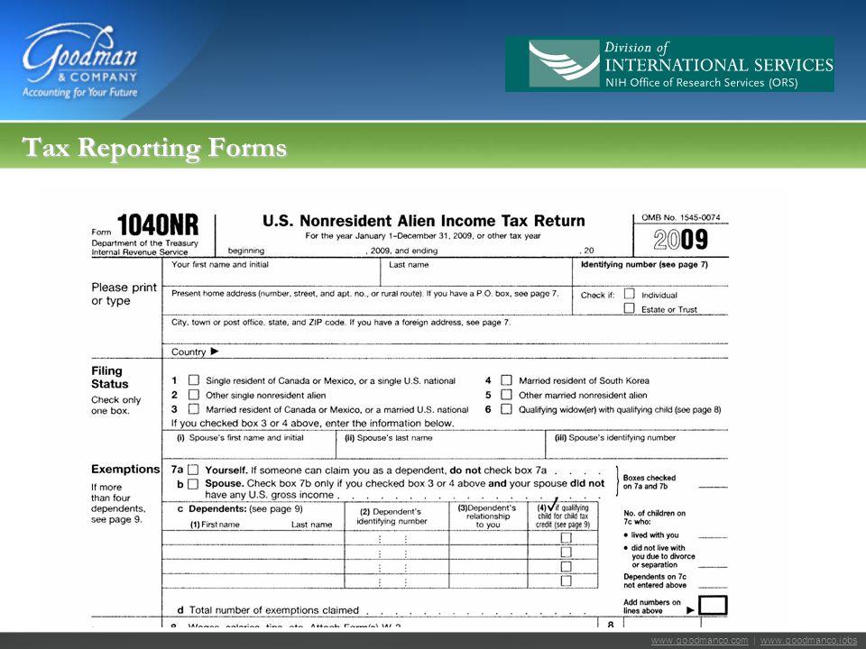 www.goodmanco.comwww.goodmanco.com | www.goodmanco.jobswww.goodmanco.jobs Tax Reporting Forms