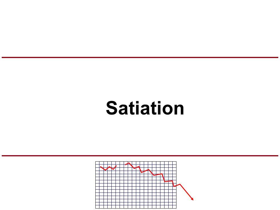 Satiation