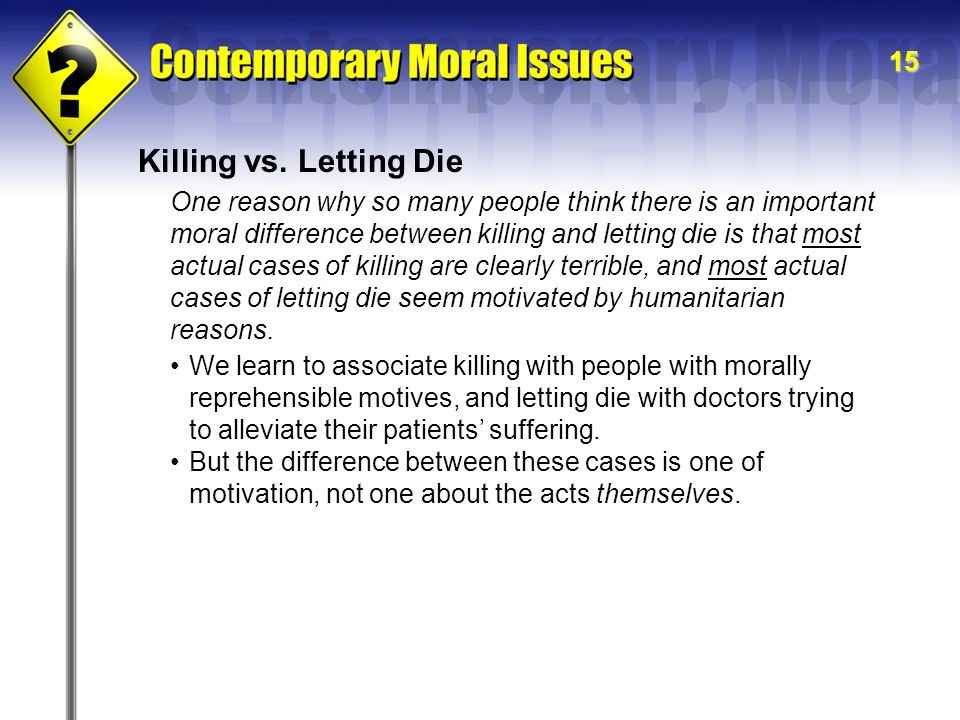 15 Killing vs.